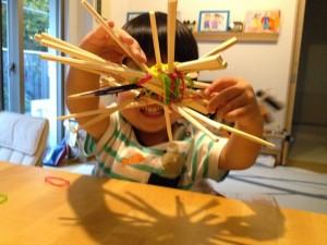 割り箸と輪ゴム