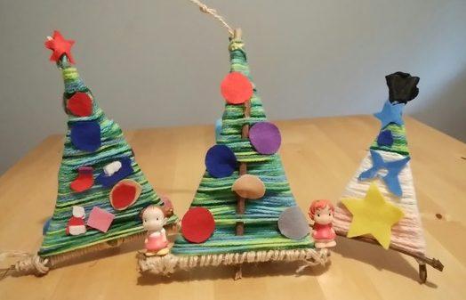 木の枝クリスマスツリー